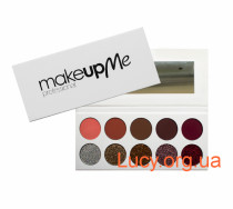 Палитра 10 матовых и глиттерных теней  Make Up Me GM10 - GM10
