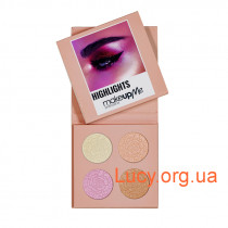 Палетка хайлайтеров 4 оттенка Make Up Me HLS4 - HLS4