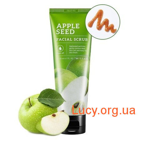 Missha Натуральный скраб с экстрактом яблока - MISSHA Apple Seed Facial Scrub - M5539