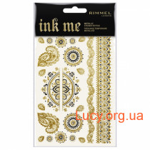 Cтикеры тату для тела INK ME Metalic Sticker Tattoos
